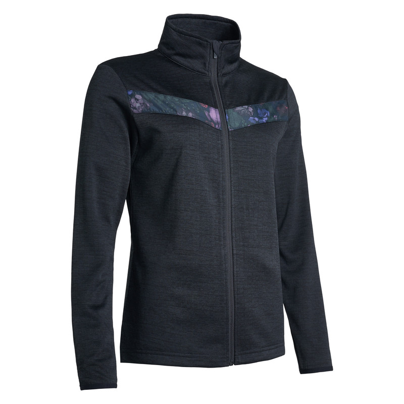 Abacus Fortrose Fleece Jacket - Black Flower