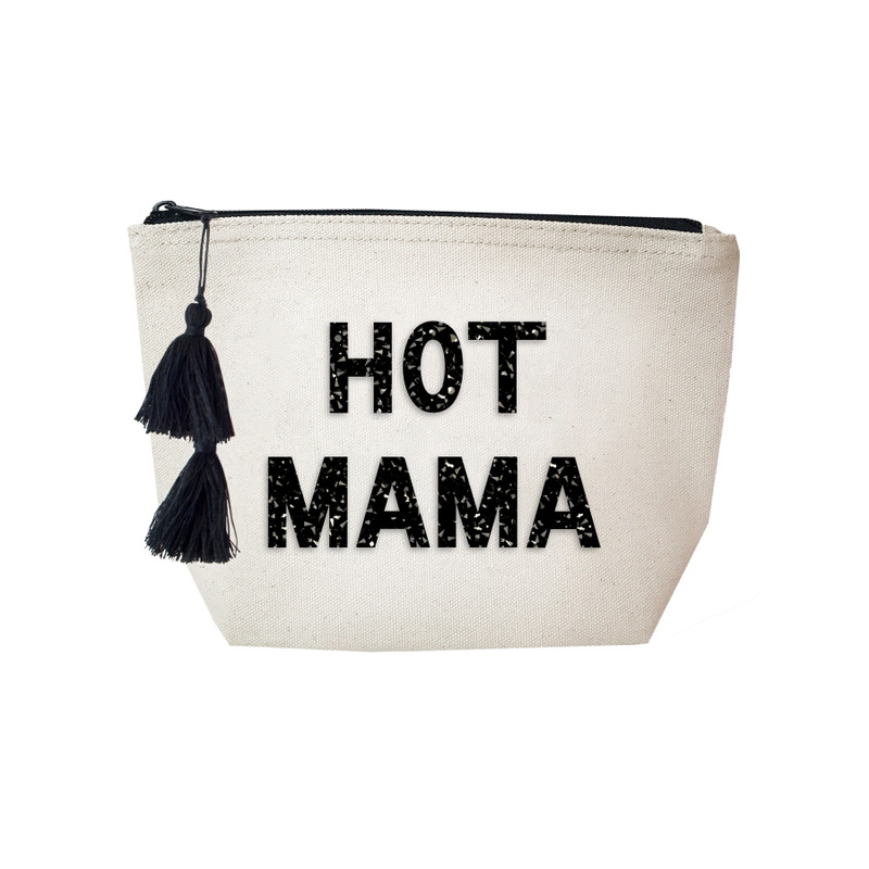 Fallon & Royce Black Crystal Cosmetic Bag - Hot Mama