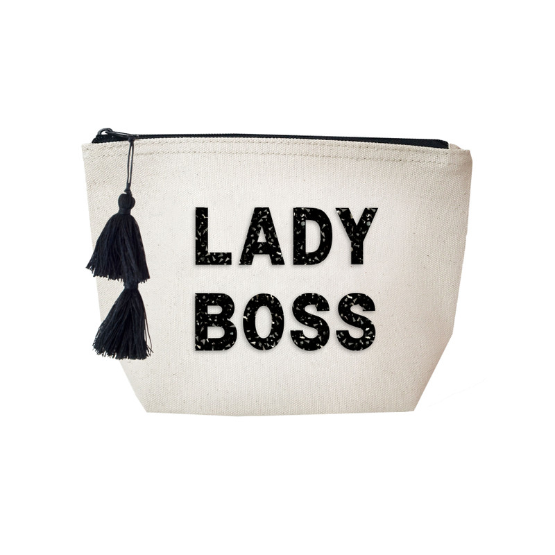 Fallon & Royce Black Crystal Cosmetic Bag - Lady Boss