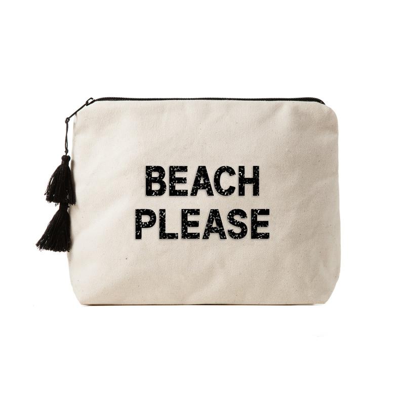 Fallon & Royce Black Crystal Clutch - Beach Please