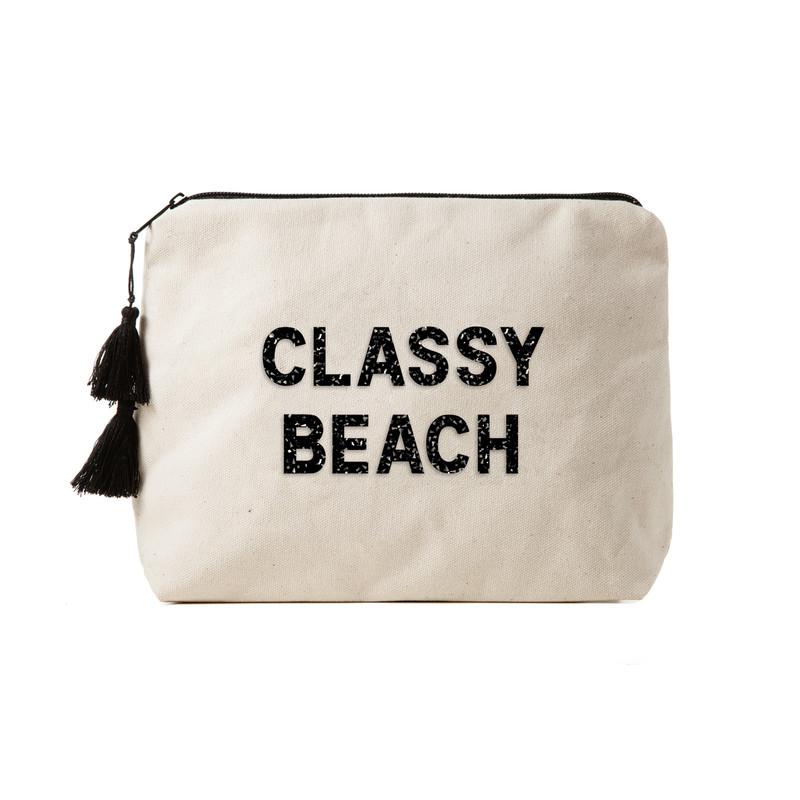 Fallon & Royce Black Crystal Clutch - Classy Beach