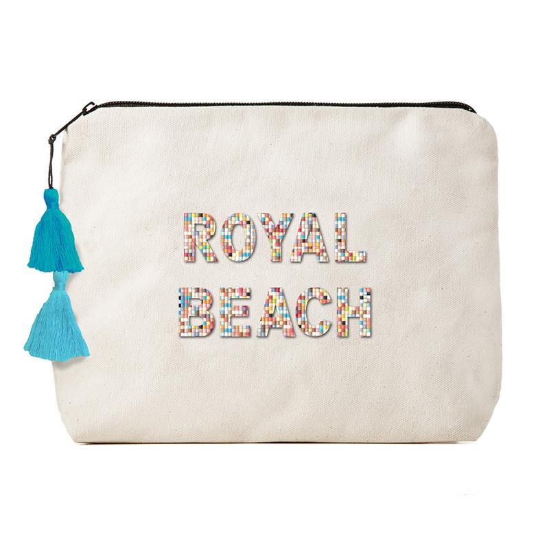 Fallon & Royce Confetti Bead Clutch - Royal Beach