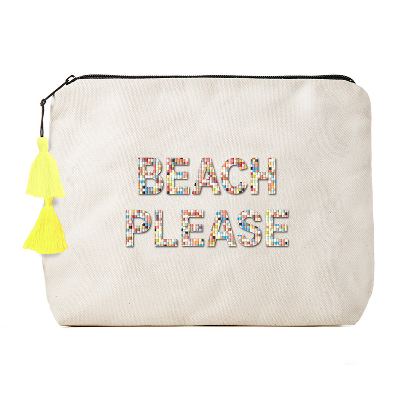 Fallon & Royce Confetti Bead Clutch - Beach Please