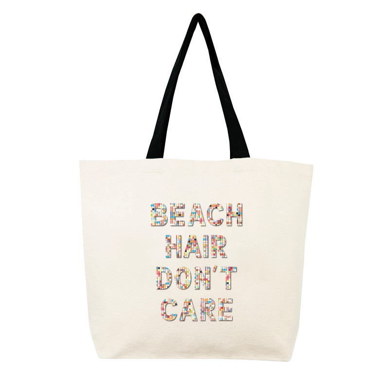 Fallon & Royce Confetti Bead Tote - Beach Hair Don't Care