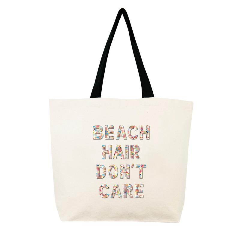 Fallon & Royce Confetti Bead Tote - Beach Hair Don't Care