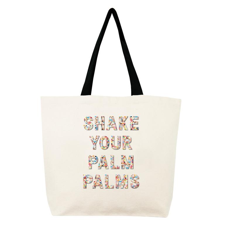 Fallon & Royce Confetti Bead Tote - Shake Your Palm Palms