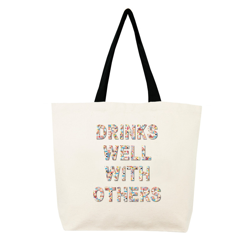 Fallon & Royce Confetti Bead Tote - Drinks Well With Others