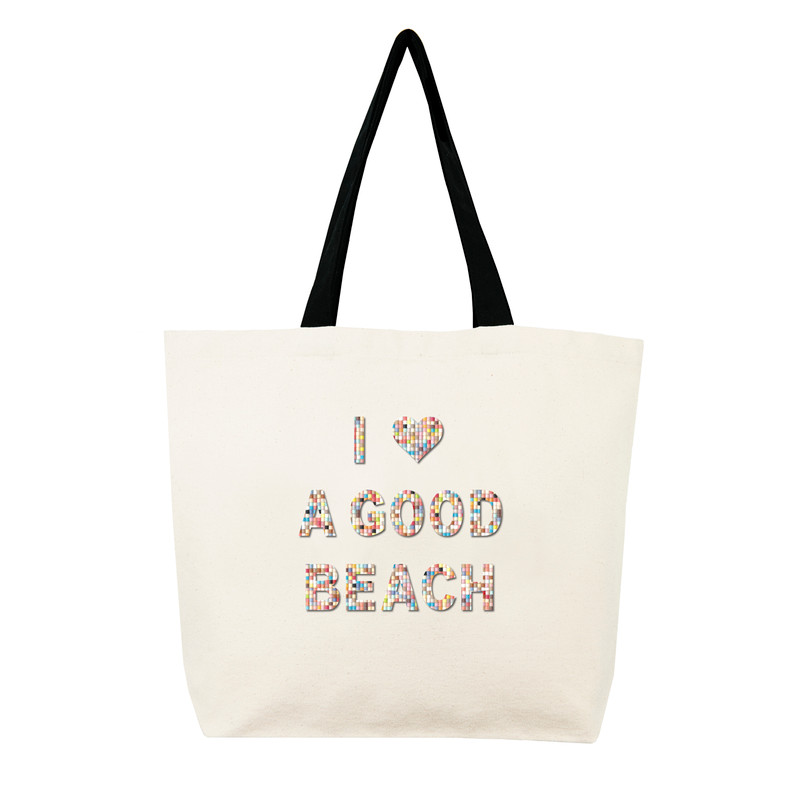 Fallon & Royce Confetti Bead Tote - I Love A Good Beach