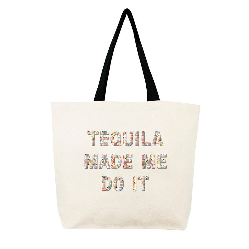 Fallon & Royce Confetti Bead Tote - Tequila Made Me Do It