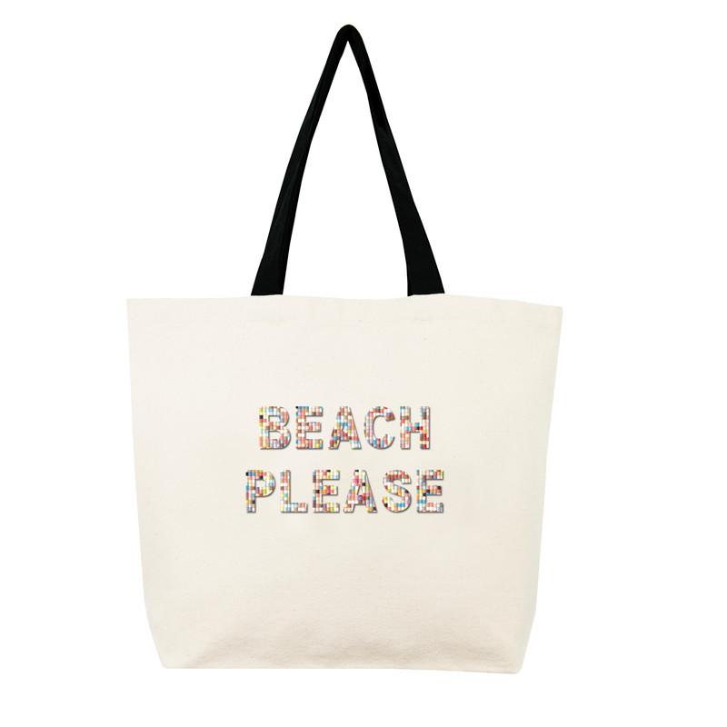 Fallon & Royce Confetti Bead Tote - Beach Please