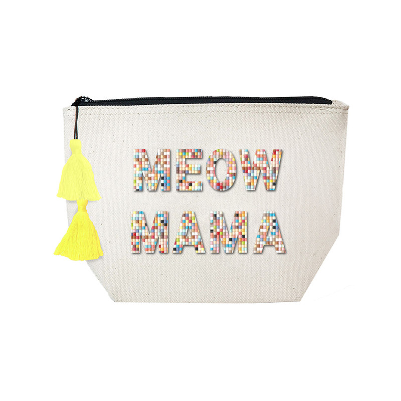 Fallon & Royce Confetti Bead Cosmetic Case - Meow Mama