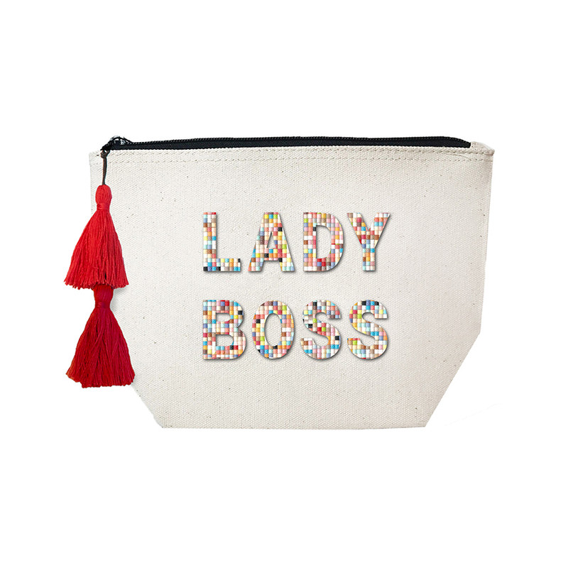 Fallon & Royce Confetti Bead Cosmetic Case - Lady Boss
