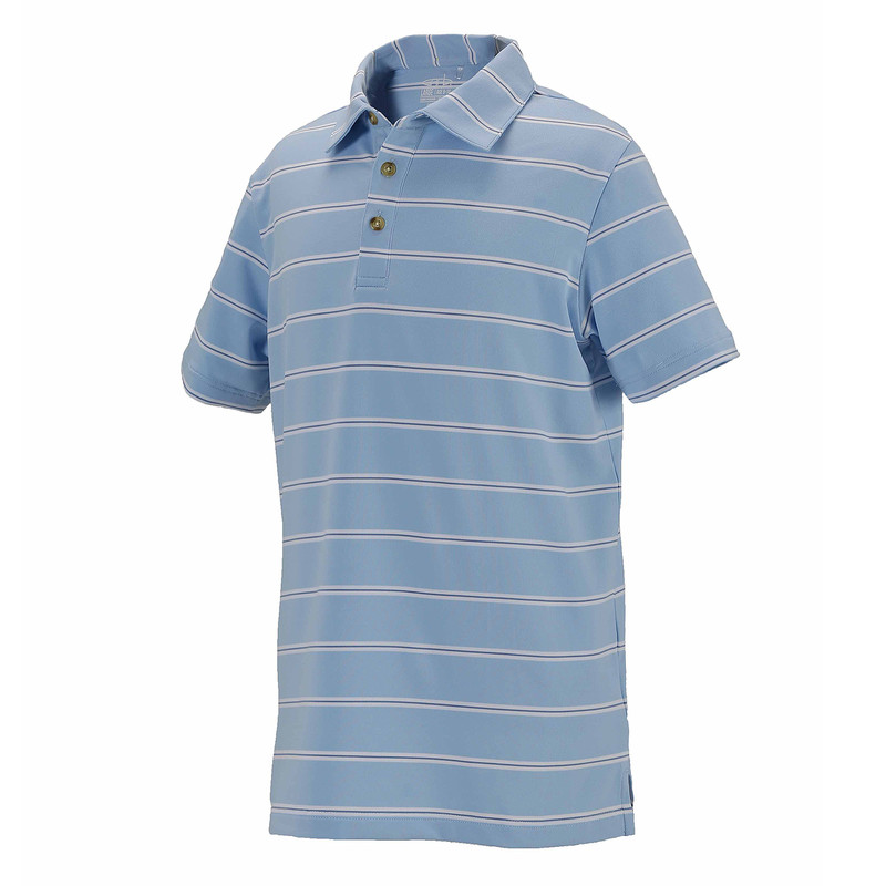 Leo Stripe Golf Polo
