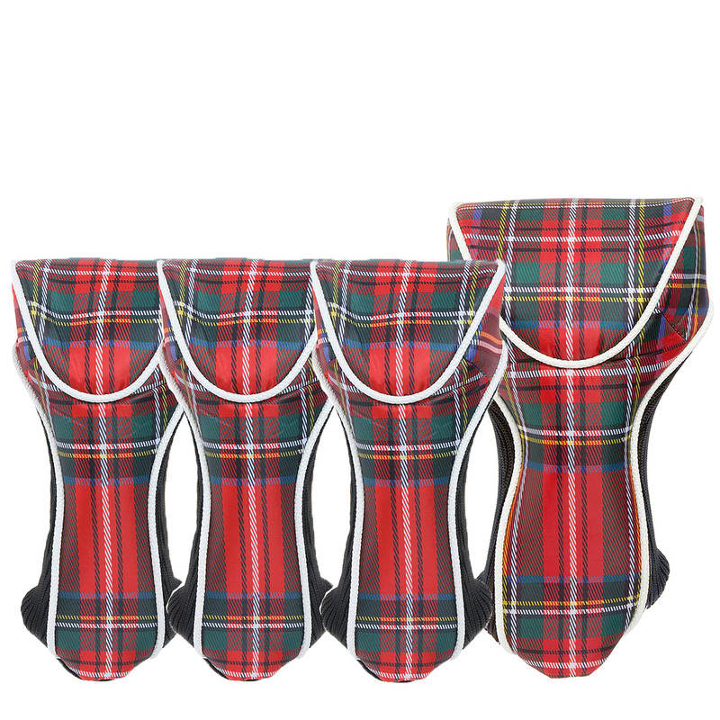 Cutler Balmoral Red Tartan Golf Head Covers