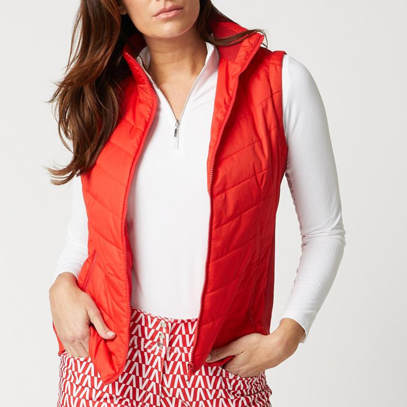 GGblue Evee Quilted Vest - Estate Red