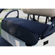 GolfChic Quilted Golf Cart Seat Cover - Black/Polka Dot