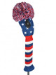 Embroidered Stars Fairway Headcover - Navy, Red, & White
