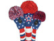 Just4Golf Fairway Headcover - White Embroidered Stars