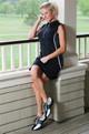 Sandbaggers Ladies Golf Shoe - Krystal Black Lace