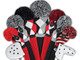 Just4Golf Hybrid Headcover - Red/Black Diagonal Stripes
