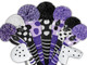 Just4Golf Hybrid Headcover - Purple/Black Vertical Stripes