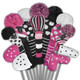 Just4Golf Fairway Headcover - Pink/Black Diagonal Stripes