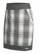 FILA Geneva Plaid Golf Skort - Silver/Shocking Pink