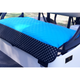 GolfChic Quilted Golf Cart Seat Cover - Turquoise/Polka Dot