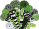Just4Golf Hybrid Headcover - Lime/Black Vertical Stripes