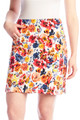 "Swing Control Masters 18"" Golf Skort - Red Floral"