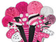 Just4Golf Hybrid Headcover - Pink/Black Diagonal Stripe