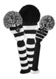 Just4Golf Headcover Set (3pc) - Black/White Stripes