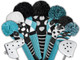 Just4Golf Fairway Headcover - Turquoise/Black Diamonds