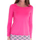 Golftini Long Sleeve Mesh Trim Top (3 Colors)
