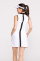 KINONA Putt and Party Sleeveless Golf Dress - White/Black