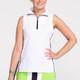 KINONA Keep it Covered Sleeveless Golf Top - White