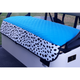 GolfChic Quilted Golf Cart Seat Cover - Turquoise/White TOGO