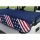 GolfChic Quilted Golf Cart Seat Cover - Navy/Stars & Stripes