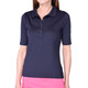 Golftini Tech Elbow Sleeve Fashion Polo - Navy