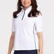 KINONA Keep it Covered Short Sleeve Golf Top - White