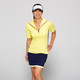 KINONA Keep it Covered Short Sleeve Golf Top - Sunshine