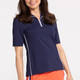 KINONA Keep it Covered Short Sleeve Golf Top - Navy