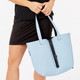 BelynKey Keystone Reversible Tote - Powder Blue/Onyx