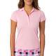 Golftini Short Sleeve Ruffle Stretch Polos