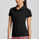 Annika Perforated Short Sleeve Polo (3 colors)