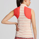 Ladies Swerve Stripe Contour S/L Mock