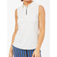 BelynKey Keystone Sleeveless Zip Polo - Chalk
