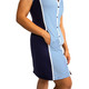 Tee Time Short Sleeve Golf Dress - Royal Stripe