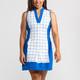 KINONA Kick Pleat Sleeveless Golf Dress - White/Blue