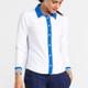 Trimmed Splouse Longsleeve Golf Shirt - White